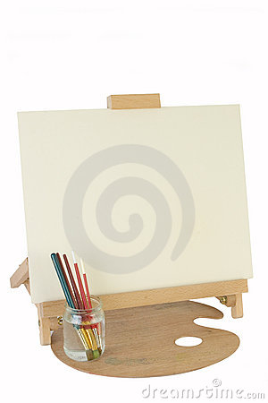 Table easel & canvas