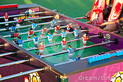 Table football game Editorial Stock Photo