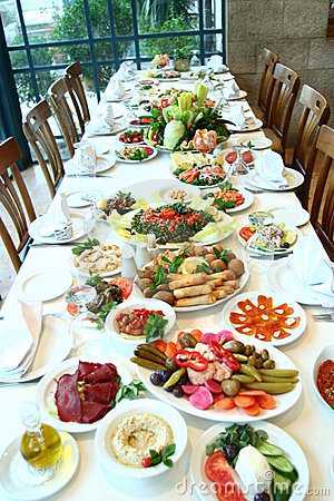 Free Table Full Of Food Royalty Free Stock Photos - 4091728