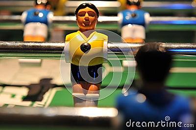 table kicker football Closeup