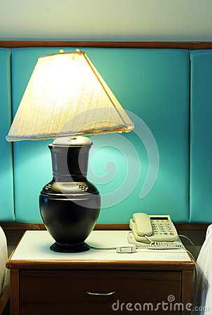 Table lamp and phone