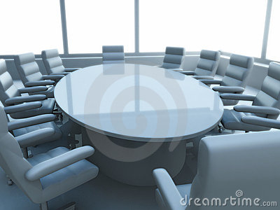 Table in meeting room