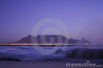 Table mountain night