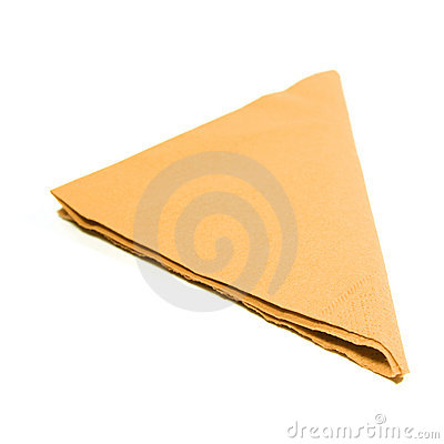Table napkin on white background