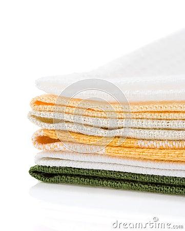 Table napkins on white