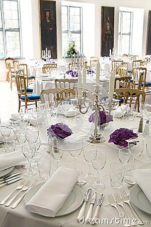 Table posh reception