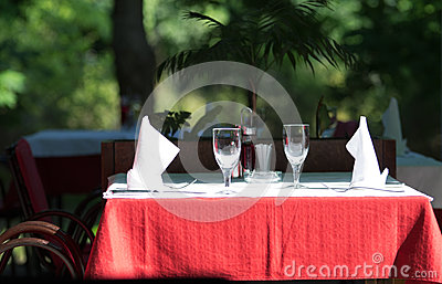 Table in restaurant
