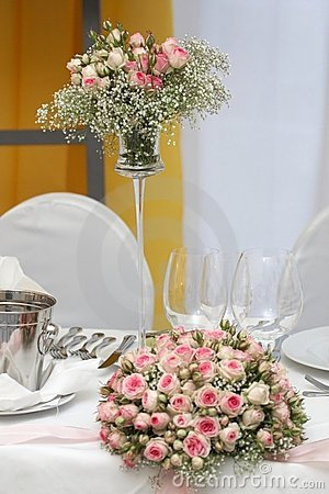 Table set for fine dining Royalty Free Stock Photos - Image: 1893178