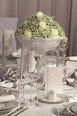 Free Table Set For Wedding Dinner Stock Photo - 1977950
