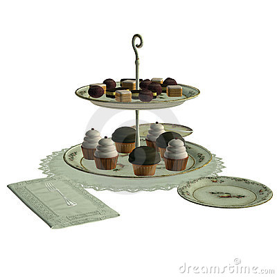Table set with sweets