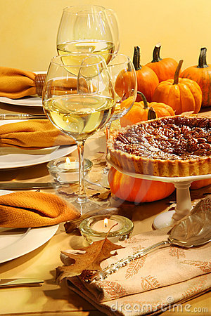 Table set for Thanksgiving