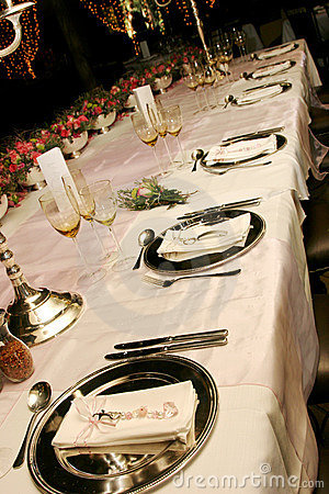 Free Table Setting Royalty Free Stock Photography - 1320287