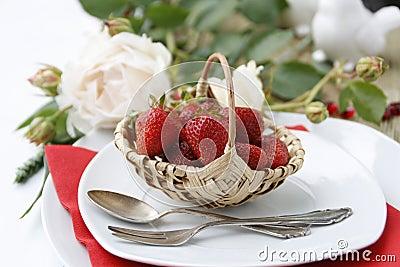 Table setting for dessert