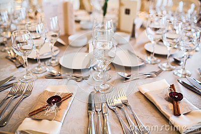 Table setting for event
