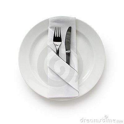 Free Table Setting,Folded Napkin Royalty Free Stock Photos - 16592428