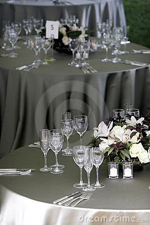 Free Table Setting For A Banquet Or Event Royalty Free Stock Photography - 1124047