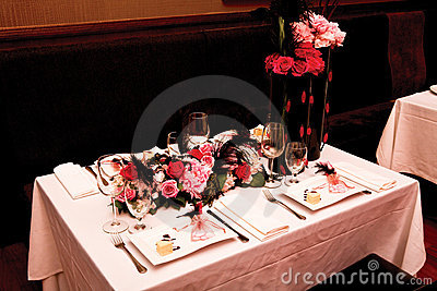 Table setting for four