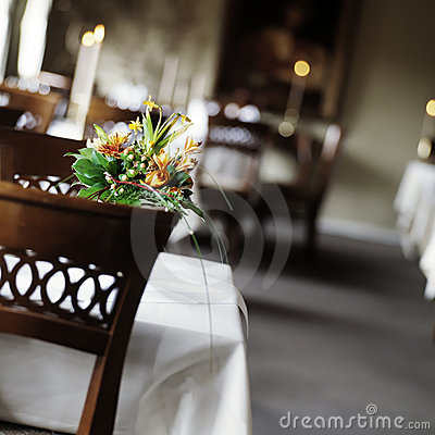 Table setting a restaurant