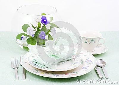 Table setting spring, Aqua
