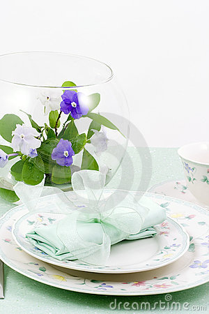 Free Table Setting Spring, Aqua Stock Photography - 2214852