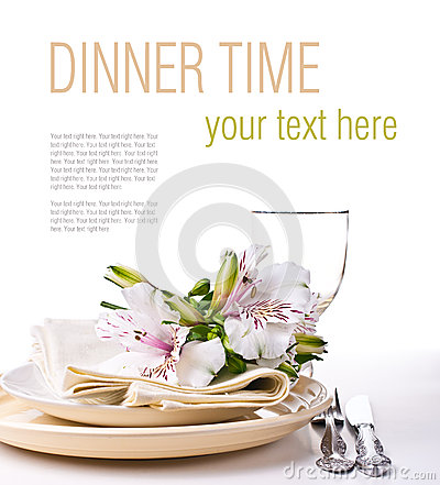 Table setting template