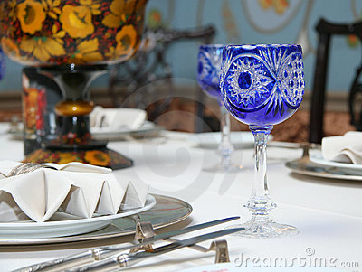 Table setting for a wedding