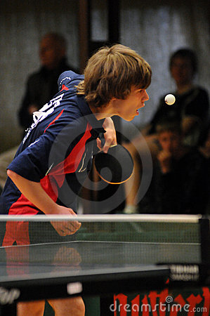 Table tennis action Editorial Stock Photo