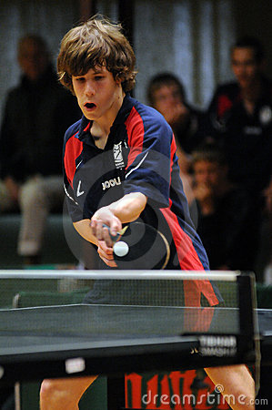 Table tennis action Editorial Stock Image