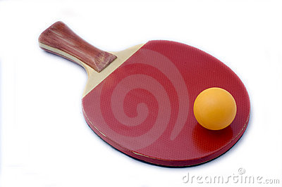 Table tennis and ball