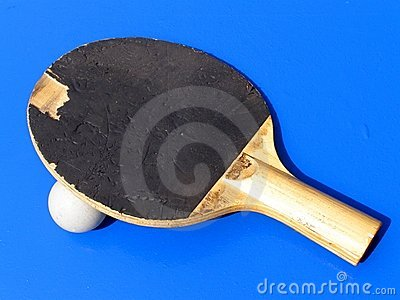 Table tennis bat background