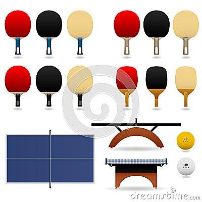 Table Tennis Bat Paddle Ball Set