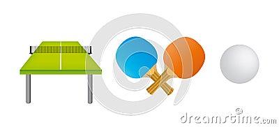 Table tennis equipments set