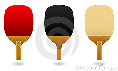 Table Tennis Pen Hold Paddle Bat Vector