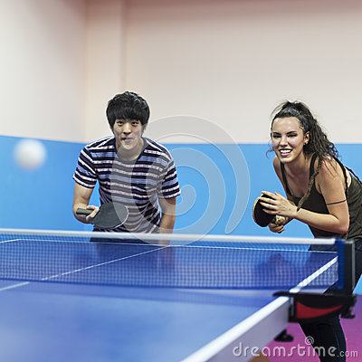 Free Table Tennis Ping-Pong Friends Sport Concept Royalty Free Stock Photos - 84046978