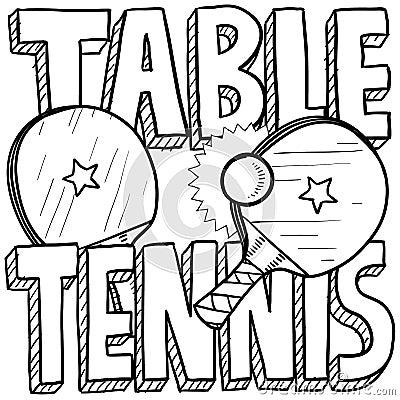 Table tennis sketch