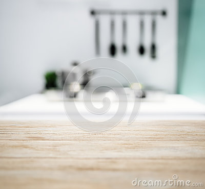 Free Table Top With Blurred Kitchen Counter Home Interior Background Stock Image - 71602821