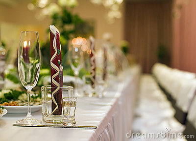 Table for wedding party