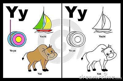 Tableau de la lettre Y