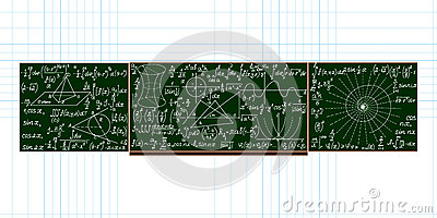 tableau noir d 39 cole de vecteur avec des calculs math matiques manuscrits illustration de. Black Bedroom Furniture Sets. Home Design Ideas