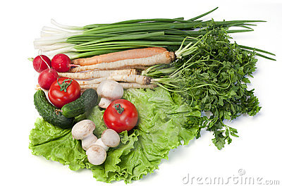 Tableau of vegetables