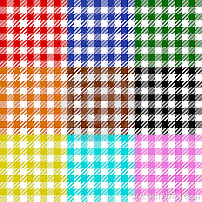 Tablecloth checks pattern collection multicolor