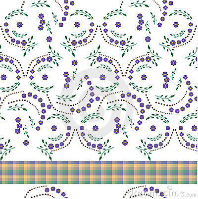 Tablecloth with flowers made