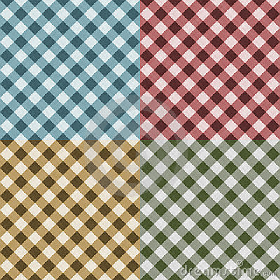 Tablecloth Gingham Seamless Pattern
