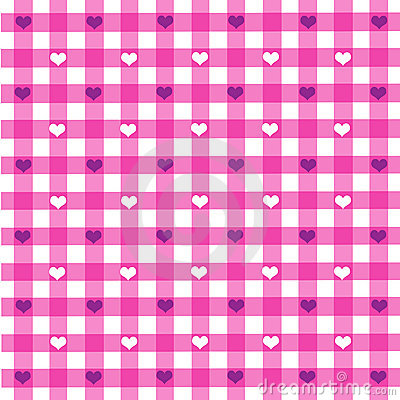 Tablecloth pattern with hearts