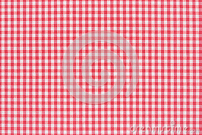 Tablecloth red and white