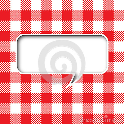Tablecloth texture speech bubble