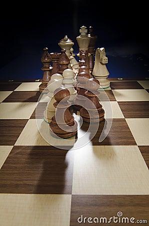 Tablero de ajedrez que viene