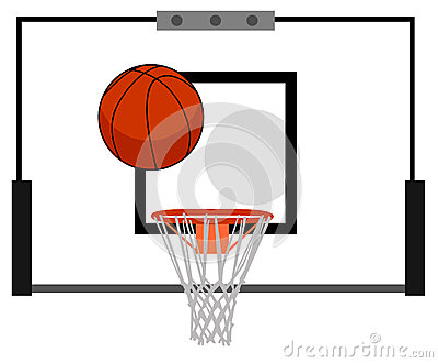 Tablero trasero de baloncesto