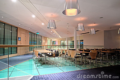 Tables and chairs in contemporary Lobby