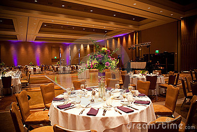 Tables at wedding reception
